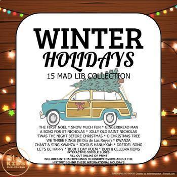 Winter Holiday Mad Lib Collection  **BUNDLE**
