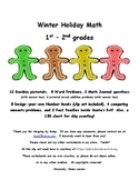 Winter Holiday Math 1st & 2nd grades * Adding Doubles, Wor