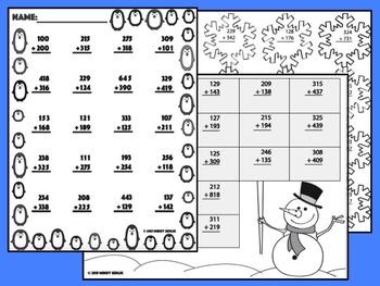 Winter Holiday Math