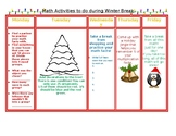 Winter Holiday Math Activities for students to do at home!