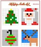 Christmas Math Art - 2 Versions - Fractions, Decimals, and/or Percents