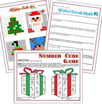 Christmas Math Winter Holiday Bundle - 12 Activities!