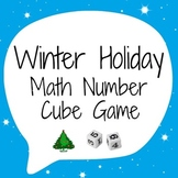 Winter Holiday Math Number Cube Game - Snowflakes