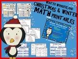 Winter Holiday Math Printables (K-1)