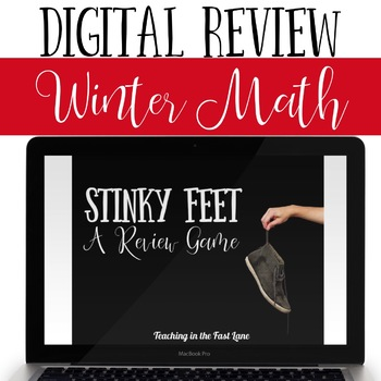 Winter Holiday Math Review Game Stinky Feet
