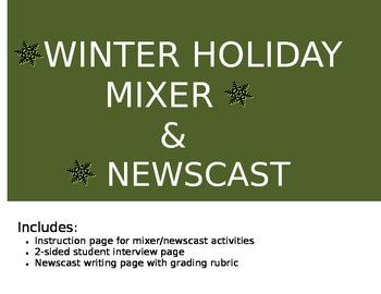 Winter Holiday Mixer/Upper Elementary Activity