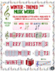Winter Holiday Music Activity! Letter/Music Note Fill-Ins (Treble & Bass Clef)