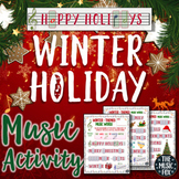 Winter Holiday Music Activity! Letter/Music Note Fill-Ins