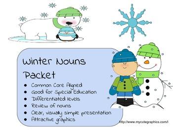 Winter Holiday Noun Worksheets