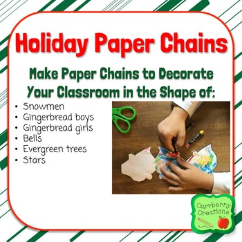 Winter Holiday Paper Chains