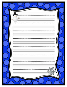 Winter Holiday Paper Printable