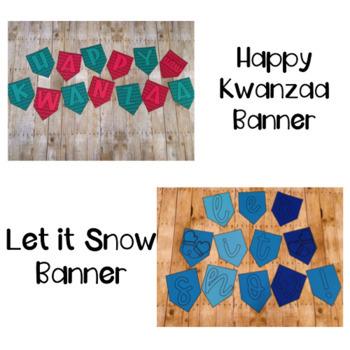 Winter Holiday Photo Booth/Bulletin Board/Photo Backdrop