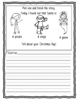 Winter Holiday Pick a Prompt Freebie!