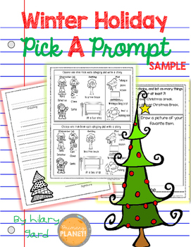 Picture Writing Prompts holiday FREE!