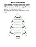 Winter Holiday Poetry (Christmas, Kwanzaa, Hanukkah, and Three Kings' Day)