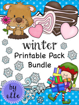Winter Holiday Printable Pack Bundle