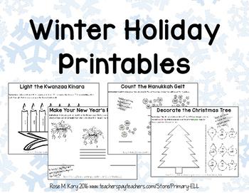Winter Holiday Printables