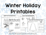 Winter Holiday Printables