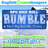 Winter Holiday RPG Dice Roll Rumble: Turn ANY Essay Writing Lesson into a Game!