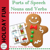 Parts of Speech Holiday Theme Noun & Verb Sort for 1st