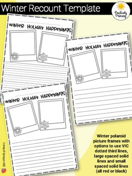 Winter Holiday Recount Writing Template FREEBIE! by Positively ...