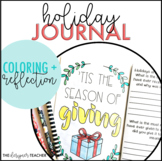 Holiday Activity Reflection and Coloring Pages Journal