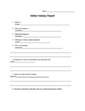 Winter Holiday Report Extension