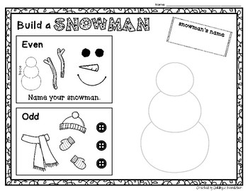 EVEN and ODD - Roll a Snowman & Roll a Christmas Tree Activities