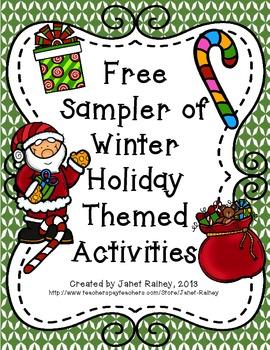 Winter Holiday Sampler Freebie