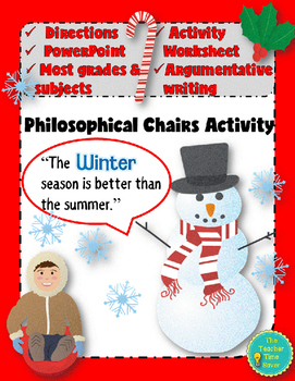 Winter Holiday Season Writing Activity- Philosophical Chairs