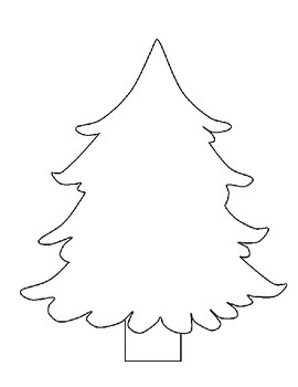 Winter Holiday Shape Template