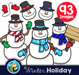Winter Holiday - Snowman (Clipart)