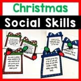 Winter Holiday Social Skills Task Cards
