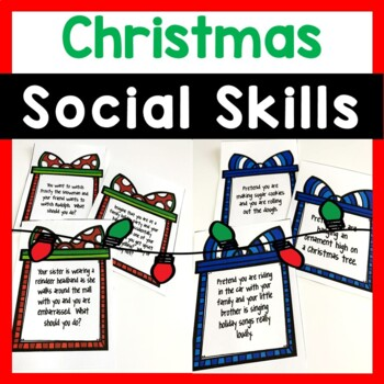 Winter Holiday Social Skills Task Cards