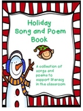 Holiday Song and Poem Book