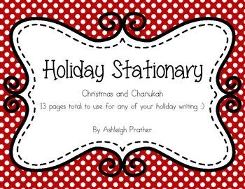 Winter Holiday Stationary