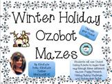 Winter Theme Ozobot Mazes
