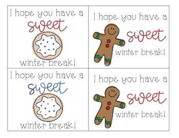 Winter Holiday Themed Appreciation Notes