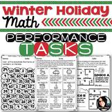 Christmas Activities Winter Holiday Themed Math Printables Grades 4-6