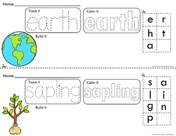 Spring Holiday Trace Color Build Writing Center Activities No Prep