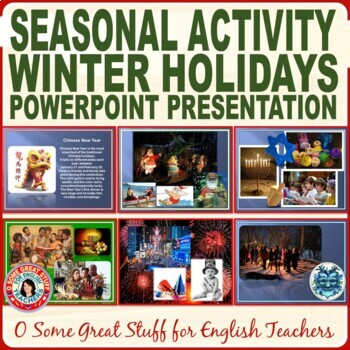 Christmas Activities Winter Holiday Traditions PowerPoint-Beautiful Graphics