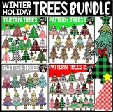 Winter Holiday Trees Clip Art Bundle