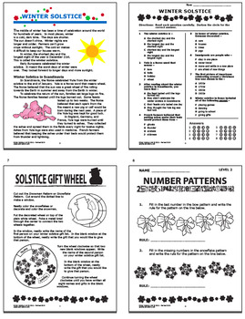 Winter Holidays Math & Literacy–Winter Solstice, Reindeer Activity, Holiday Math