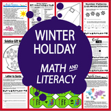 Winter Holidays Math & Literacy – Winter Solstice, Reindeer Activity, Writing
