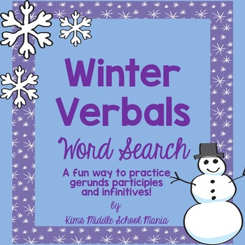Winter Verbals Word Search