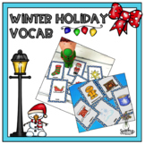 Winter Holiday Vocab - Speech Therapy Resource