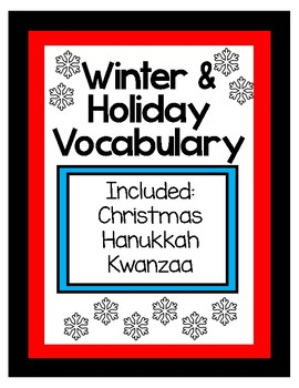 Winter Holiday Vocabulary