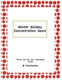 Winter Holiday Vocabulary Cards
