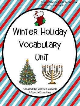 Winter Holiday Vocabulary Unit