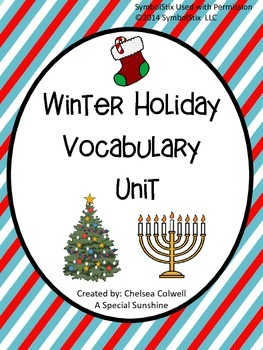 Winter Holiday Vocabulary Unit for Special Education
